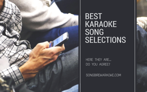 best karaoke song selections graphic