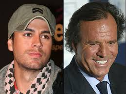 Enrique Iglesias and Julio Iglesias