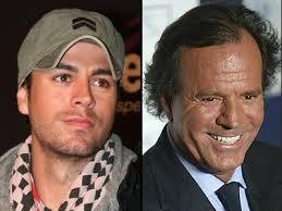 Enrique Iglesias and Julio Iglesias