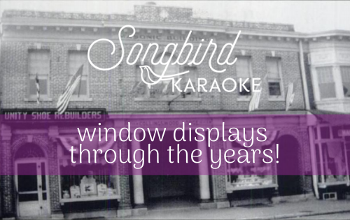songbird karaoke window displays